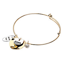 Buy Adele Marie Love Bangle, Gold/Silver Online at johnlewis.com
