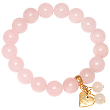 Buy Adele Marie Semi Precious Beads Gold Heart Charm Bracelet Online at johnlewis.com