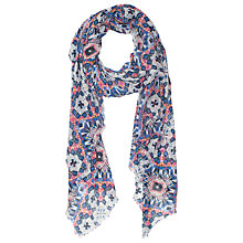 Buy French Connection Modal Mosaic Lacey Scarf, Electric Online at johnlewis.com
