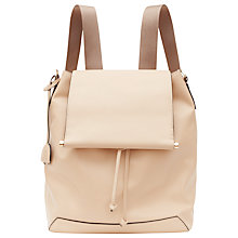 Buy Reiss Luca Leather Backpack, Nude Online at johnlewis.com