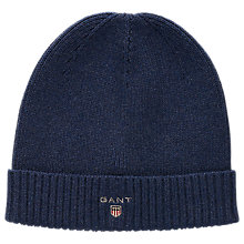 Buy Gant Cotton Knit Beanie Online at johnlewis.com