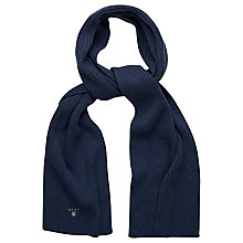 Buy Gant Cotton Ribbed Scarf Online at johnlewis.com