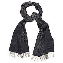 Buy Gant Woven Pattern Wool Scarf, Navy Online at johnlewis.com