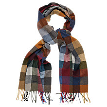 Buy Gant Lambswool Check Scarf, Multi-coloured Online at johnlewis.com