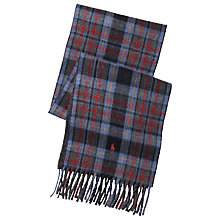 Buy Polo Ralph Lauren Reversible Check Scarf, Blue Online at johnlewis.com