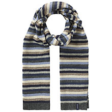 Buy Gant Lambswool Striped Scarf, Blue/Grey Online at johnlewis.com