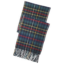 Buy Polo Ralph Lauren Reversible Tartan Scarf, Navy Online at johnlewis.com