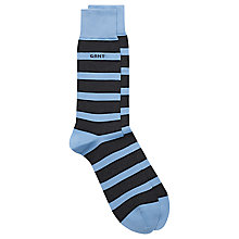 Buy Gant Prep Stripe Cotton Socks, One Size, Blue Online at johnlewis.com