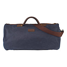 Buy Barbour Wax Cotton Round Holdall, Navy Online at johnlewis.com