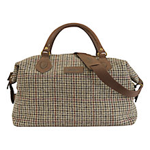 Buy Barbour Knowlton Tartan Wool Explorer Holdall, Brown Online at johnlewis.com