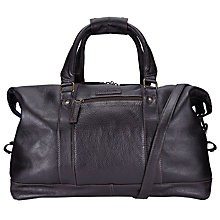 Buy Barbour Leather Holdall, Dark Brown Online at johnlewis.com