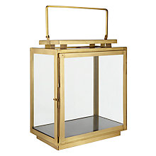 Buy John Lewis Brass Marble Base Lantern, Gold Online at johnlewis.com