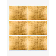 Buy John Lewis Gold Lacquer Placemat, Set of 6 Online at johnlewis.com