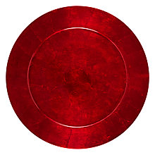 Buy John Lewis Red Lacquer Underplate Online at johnlewis.com