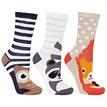 Buy John Lewis Novelty Animal Ankle Socks, Multi Online at johnlewis.com