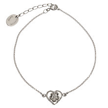 Buy Alex Monroe Sterling Silver Buttercup Baby Heart Cameo Fine Chain Bracelet, Silver Online at johnlewis.com