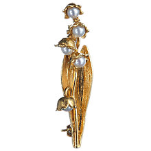 Buy Alex Monroe Gold Vermeil Pearl Flower Brooch, Gold Online at johnlewis.com