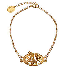 Buy Alex Monroe Gold Vermeil Oval Cameo Strawberry Bracelet, Gold Online at johnlewis.com