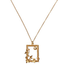Buy Alex Monroe Gold Plated Diamond Braided Frame Necklace, Gold Online at johnlewis.com