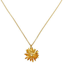 Buy Alex Monroe Gold Vermeil Daisy Pendant, Gold Online at johnlewis.com