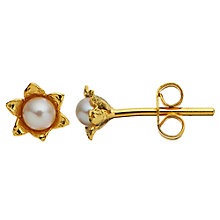 Buy Alex Monroe Lily Of The Valley Freshwater Pearl Cup Stud Earrings, Gold Online at johnlewis.com