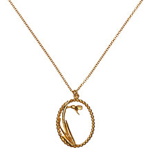 Buy Alex Monroe Oval Snowdrop Pearl Wire Necklace Online at johnlewis.com