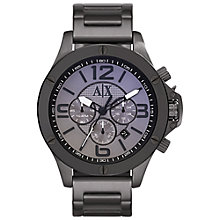 Buy Armani Exchange AX1514 Men's Stainless Steel Bracelet Strap Watch, Gunmetal Online at johnlewis.com