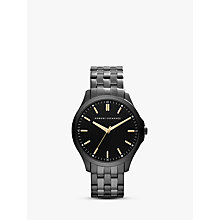 Buy Armani Exchange AX2144 Men's Hampton Low Profile Stainless Streel Bracelet Strap Watch, Gunmetal Online at johnlewis.com