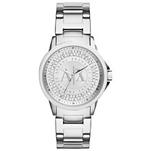 Buy Armani Exchange AX4320 Lady Banks Women's Stainless Steel Bracelet Strap Watch, Silver Online at johnlewis.com