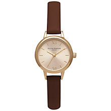 Buy Olivia Burton OB15MC38 Women's Mini Dial Leather Strap Watch, Brown/Gold Online at johnlewis.com