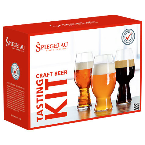 buy spiegelau craft beer glasses kit set of 3 john lewis. Black Bedroom Furniture Sets. Home Design Ideas