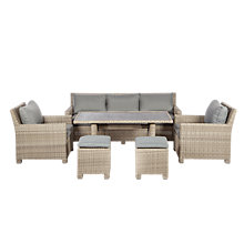 Buy Royalcraft Wentworth 10-Seater Modular Sofa Dining Online at johnlewis.com