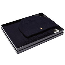 Buy Polo Ralph Lauren Merino Wool Hat & Scarf Gift Set, Navy Online at johnlewis.com