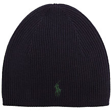 Buy Polo Ralph Lauren Merino Wool Skull Cap, Navy Online at johnlewis.com