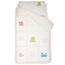 Buy Margaret Muir Sea Creatures Cotbed Duvet Cover Set, Cream/Beige Online at johnlewis.com
