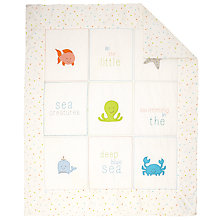 Buy Margaret Muir Sea Creatures Baby Cot/Cotbed Quilt, Beige/Multi Online at johnlewis.com