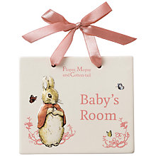 Buy Beatrix Potter Flopsy, Mopsy and Cotton-Tail Baby's Room Door Plaque Online at johnlewis.com