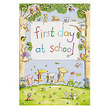 Buy Woodmansterne Animals with School Sign Greeting Card Online at johnlewis.com