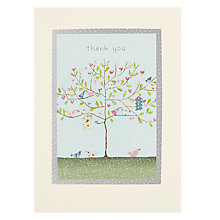 Buy James Ellis Stevens Blue Tree Thank You Card Online at johnlewis.com
