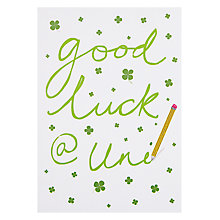Buy Woodmansterne Good Luck At Uni Greeting Card Online at johnlewis.com