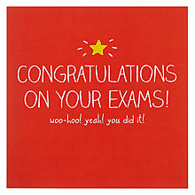 Buy Happy Jackson Exam Congratulations Greeting Card Online at johnlewis.com