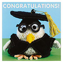 Buy Mint Congratulations Owl Greeting Card Online at johnlewis.com