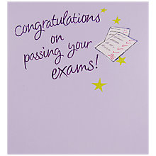 Buy Hotch Potch Congratulations On Passing Your Exams Greeting Card Online at johnlewis.com