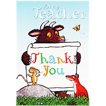Buy Woodmansterne Gruffalo Holding Sign Greeting Card Online at johnlewis.com