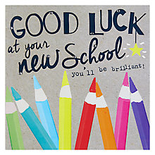 Buy Hammond Gower Good Luck Pencils Greeting Card Online at johnlewis.com