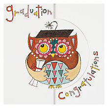 Buy Rachel Ellen Graduation Owl Greeting Card Online at johnlewis.com