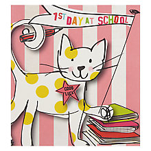 Buy Caroline Gardner 1st Day At School Cat Greeting Card Online at johnlewis.com