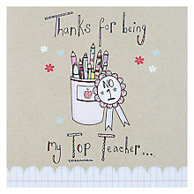 Buy Saffron Thank You Teacher Greeting Card Online at johnlewis.com