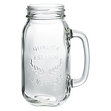 Buy John Lewis Pint Jar Glass Online at johnlewis.com