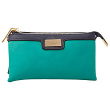 Buy Dune Keira Colour Block Triple Pouch Clutch Bag, Teal Online at johnlewis.com
